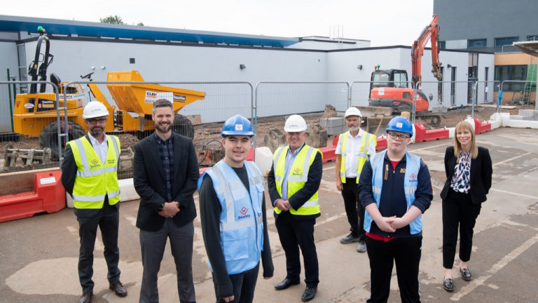 Coventry SEN students help complete major extension at their school