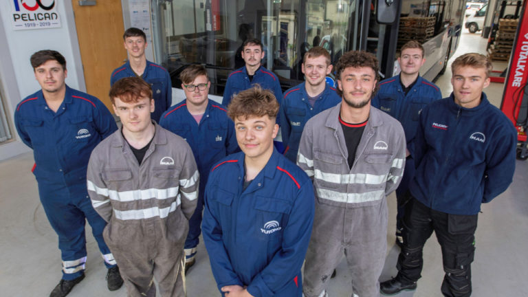 Yorkshire-based bus and coach specialist training 20 apprentice HGV technicians
