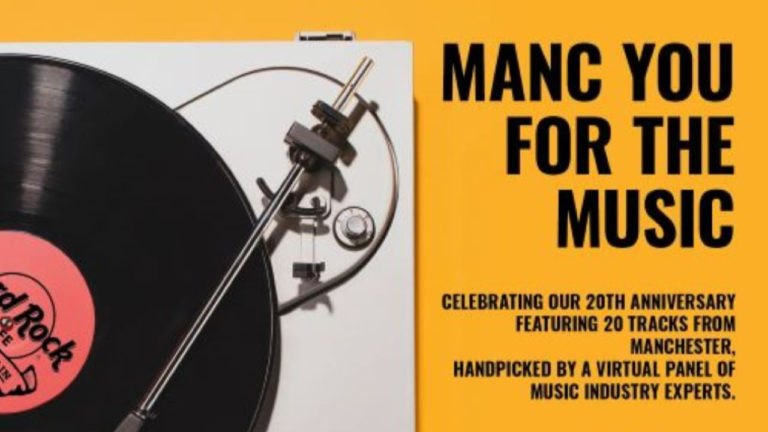 Hard Rock Cafe Manchester reveals playlist for 'Manc You For The Music' 20th anniversary album