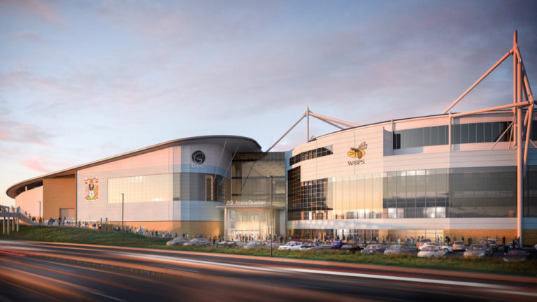 Multi-million pound plans to transform Ricoh Arena submitted
