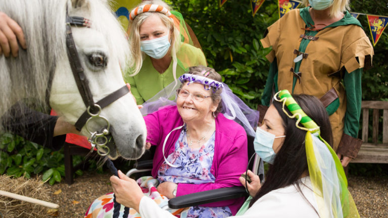 Birchwood House travels back in time for marvelous medieval garden party