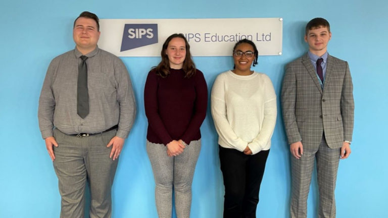 Sandwell-based SIPS Education recruits four apprentices as part of ongoing growth