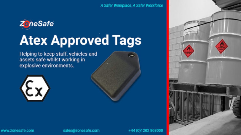 Proximity warning alert specialist, ZoneSafe launches wearable tag approved for ATEX zone 2/22 environments