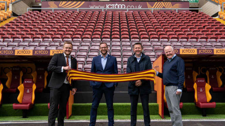 JCT600 completes new dugouts for Bradford City AFC