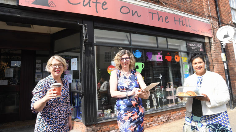 Coleshill cafe benefits from a serving of support