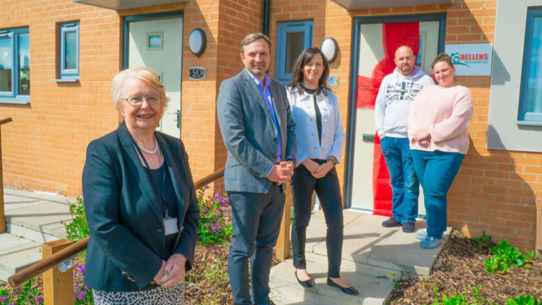 Council leader joins North East residential developer at new properties in Darlington hot spot