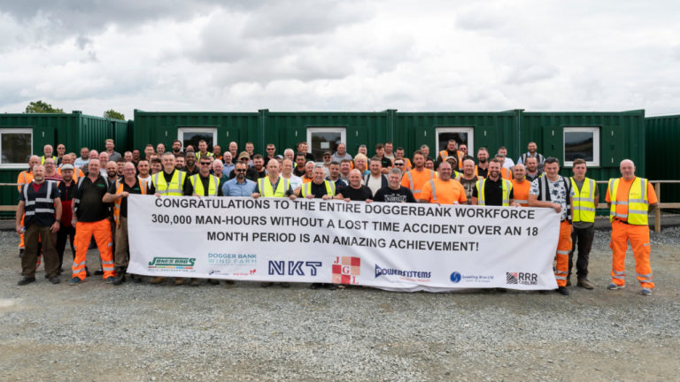 Civil engineering company hits 300,000 hours without lost time incident on offshore wind project