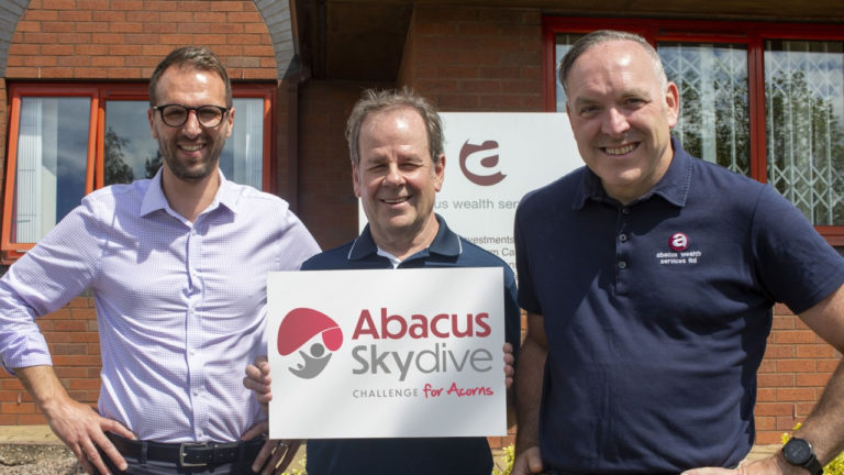 Abacus Wealth Services take on skydive challenge to raise cash for children's hospice