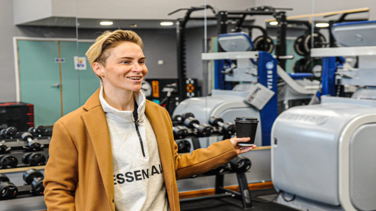Most-capped female footballer Jess Fishlock MBE opens newly refurbished Hydrotherapy & Rehabilitation Centre