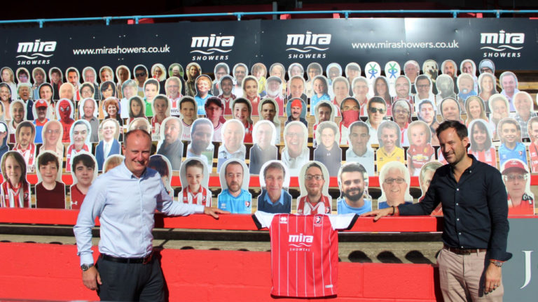 Mira Showers extends partnership with Cheltenham Town for two more years