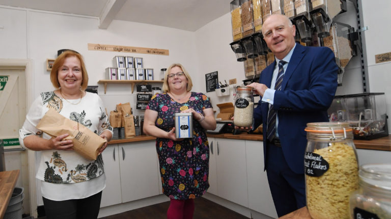 Alcester business expands its zero-waste food section