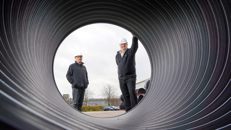 Aquaspira sets course for  zero carbon drainage pipe product