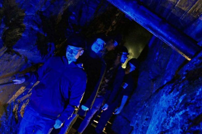 Visitors embark on a Paranormal Investigation at the Silver Mountain Experience