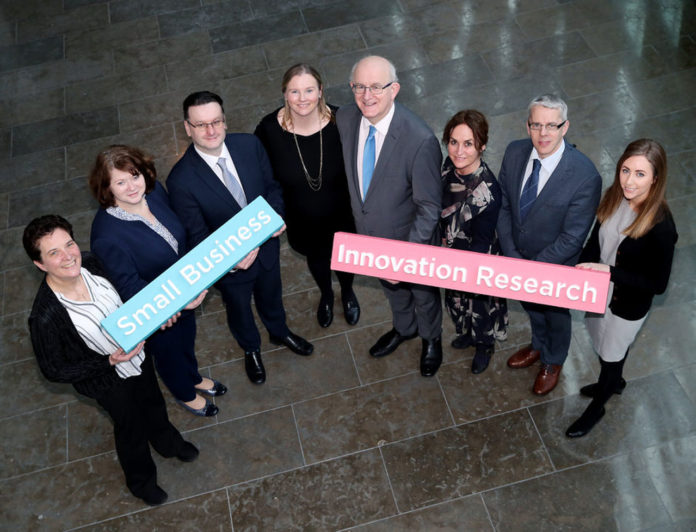 Pictured L-R: Hilda Dowler, Mater Misericordiae University Hospital; Nuala Nevin, Department of Business, Enterprise and Innovation; David Wall, Tallaght University Hospital; Marguerite Bourke, Enterprise Ireland; Tom Kelly, Enterprise Ireland; Naomi Rooney, National Transport Authority; Tommy Furey, Marine Institute and Abigail Murphy, Environmental Protection Agency.