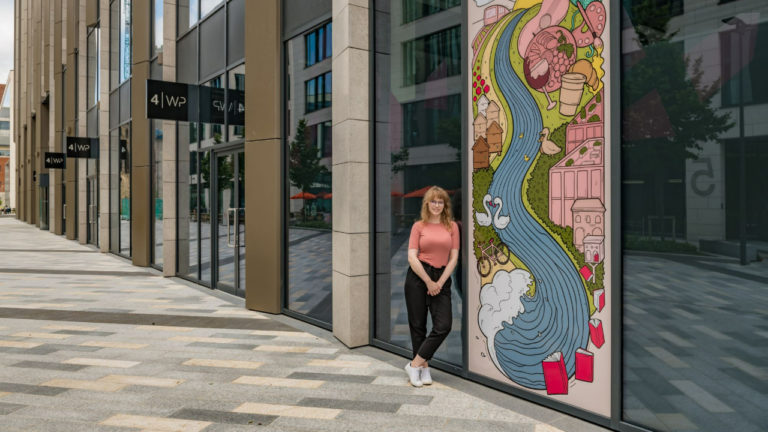 New art installation at Wellington Place showcases designs from Leeds Art University Student