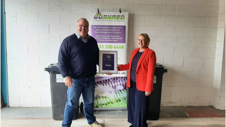 Go Shred win Huddersfield Business of the Month Award