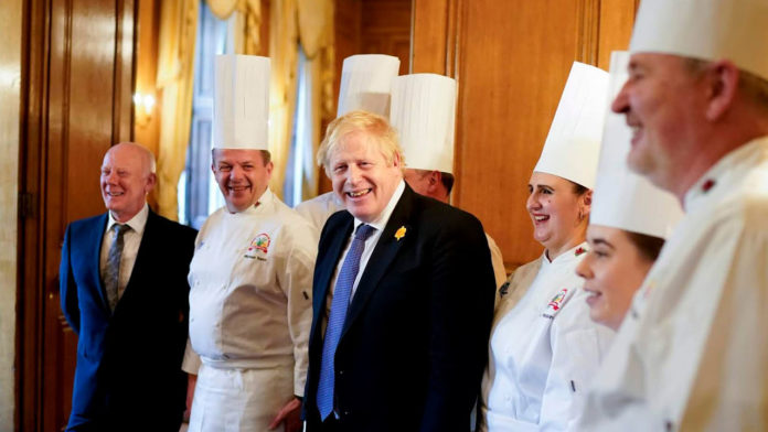 Chefs serve up a treat for Prime Minister Boris at Wales Week in London
