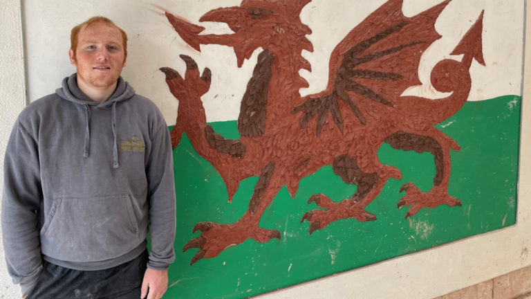 Drew set for plastering apprenticeship after meeting boss on skills course