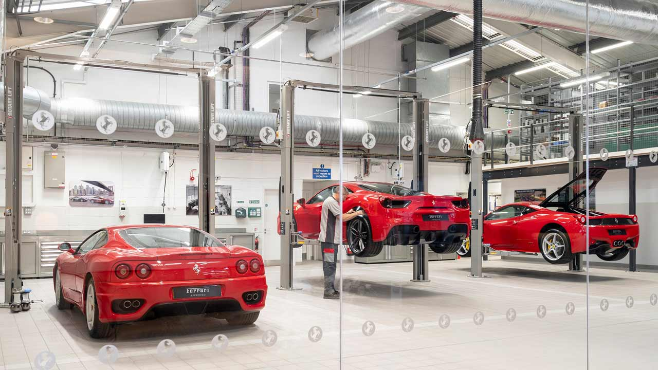 JCT600's Official Ferrari Service Centre and Ferrari Approved Showroom in Newcastle