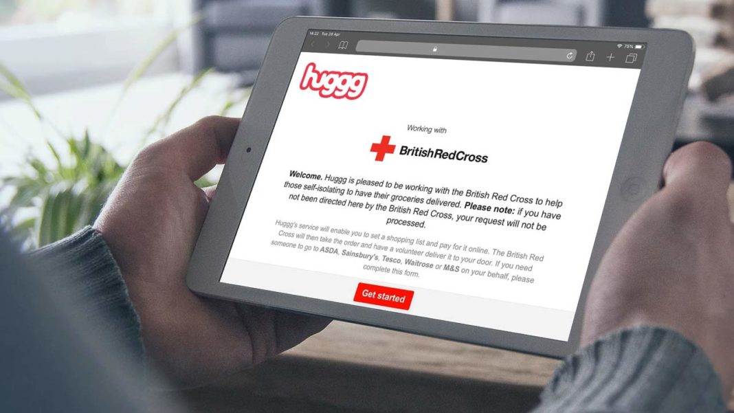Huggg & British Red Cross Provide Shopping System For Isolated Brits