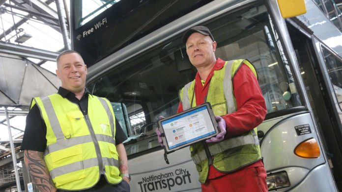 Nottingham City Transport Rolls Out Cloud Mobile System for Fleet Engineers