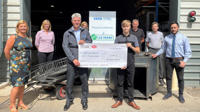 Student shows mettle in designing sculpture for steel giant's 125th anniversary